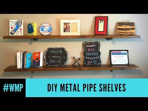 DIY Metal Pipe Shelves #WMP