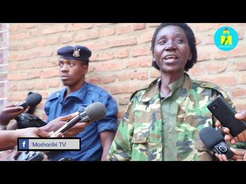 Umugore n'umugabo bafatiwe i Bujumbura bambaye umwambaro w'igiporisi n'igisirikare kandi ataribo