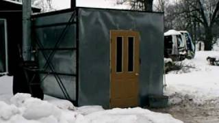 Outdoor Forced Air Heating Project (yr.2 Pt.1).wmv