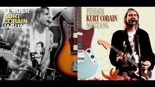 Fender Kurt Cobain Mustang guitar vs. Kurt Cobain Jaguar guitar