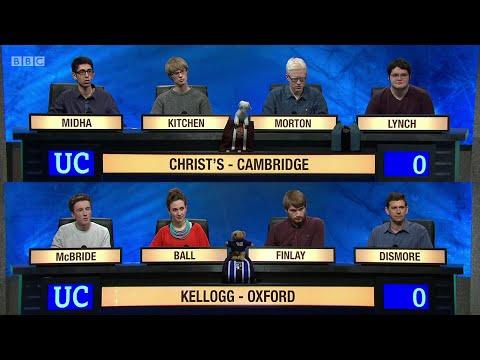 University Challenge S45E07 - Christ's College, Cambridge  vs Kellogg College, Oxford.