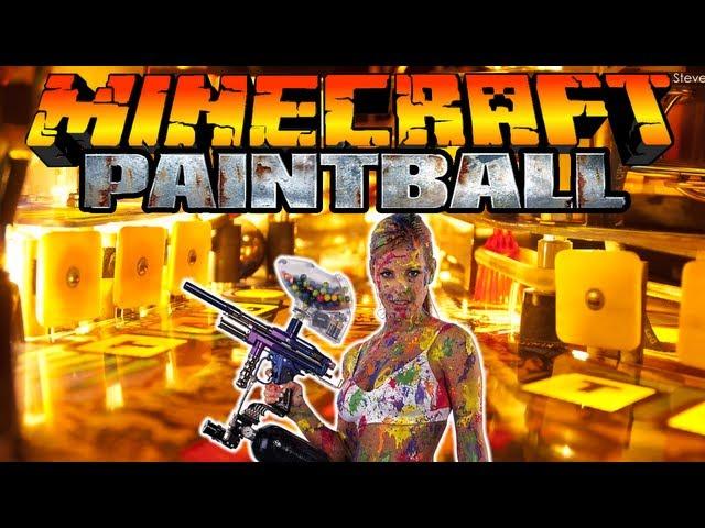 Paintball для майнкрафт