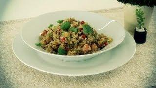 Como preparar uma salada de quinoa : Almoços de última hora