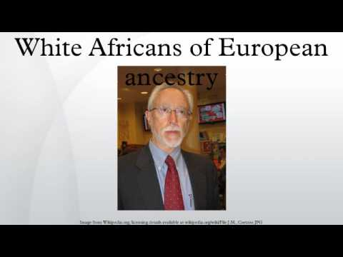 White Africans of European ancestry
