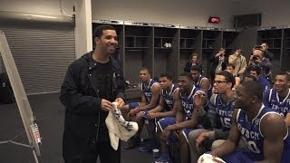Kentucky Wildcats TV: Coach Cal Post Wisconsin Locker Room & Drake Visits
