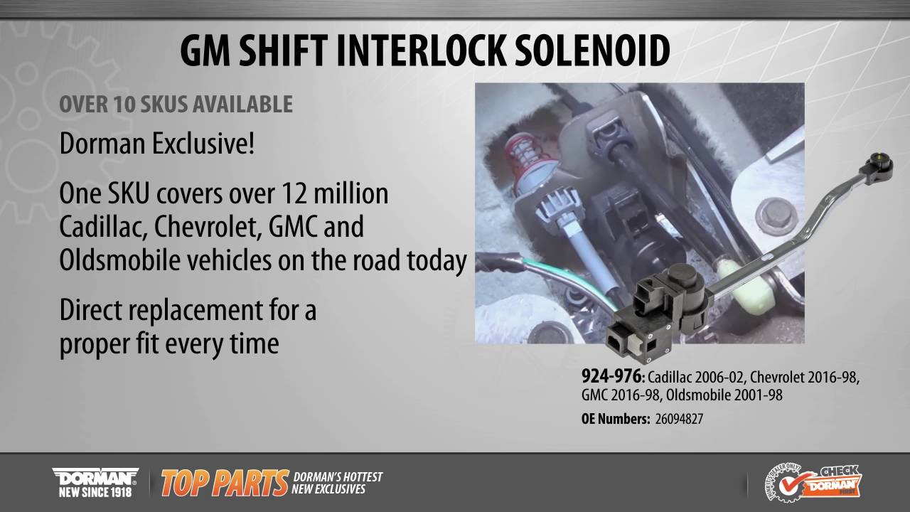 Highlighted Part: Shift Interlock Solenoid for Select Cadillac, Chevy, GMC & Oldsmobile Models