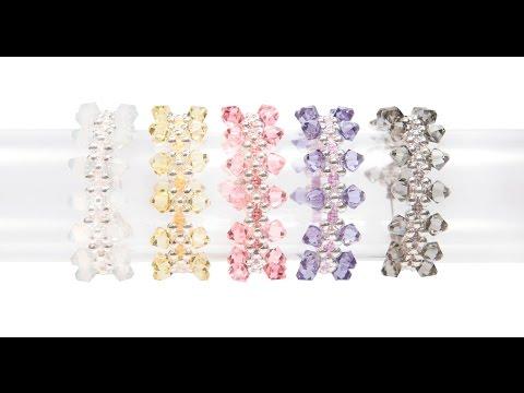 Kleshna Jewellery Making Swarovski Crystal Kisses Bracelet Kit