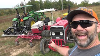 You've never seen all these tractors put to work on the same project! Farm Tools!