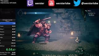 Octopath Traveler Olberic Speedrun in 1:07:35 [Current World Record]