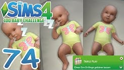 DIE SIMS 4: 100 BABY CHALLENGE #74 DRILLINGE! :O ☆ Let's Play