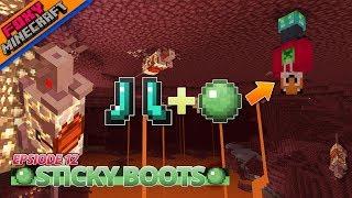 Minecraft  | STICKY BOOTS | JAVA SMP [12]