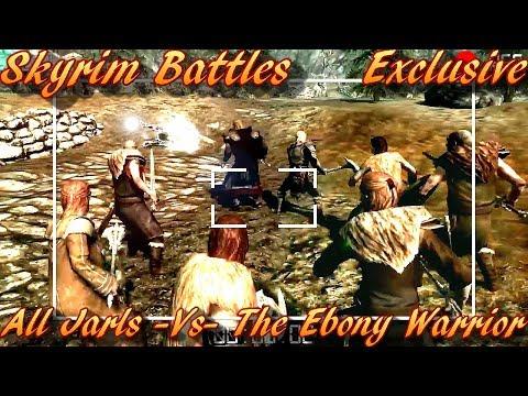 Skyrim Battles - All Skyrim Jarls vs The Ebony Warrior [Legendary Settiings]