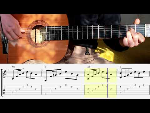 House Of The Rising Sun Guitar Lesson. Tabs. Notes. Chords