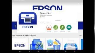 Epson iPrint aplicion para imprimir desde smartphone&tablet
