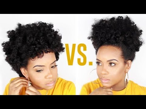 BANTU KNOT OUT FRO VS PUFF | Yolanda Renee
