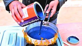 Boiling Asian Paint | फिर जो हुआ वह आश्चर्यचकित करने वाला था |