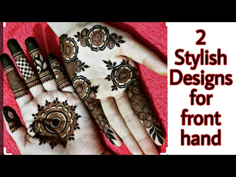 2 Stylish Front Hand Mehendi Designs New Classy And Simple