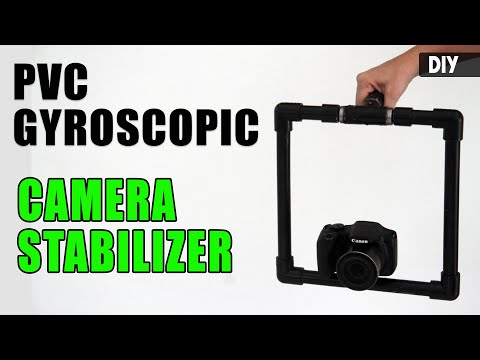 How to make a GYROSCOPIC CAMERA STABILIZER from PVC | DIY Camera gear