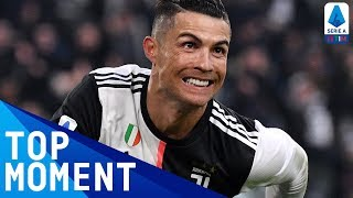 Ronaldo Scores His First Ever Serie A Hat-Trick! | Juventus 4-0 Cagliari | Top Moment | Serie A TIM