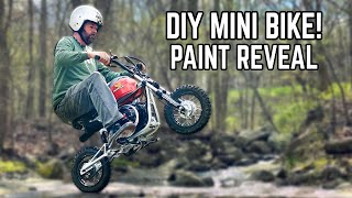 Custom Mini Bike FINALE! Our Mini Dirt Bike gets PAINT + Looks EPIC!