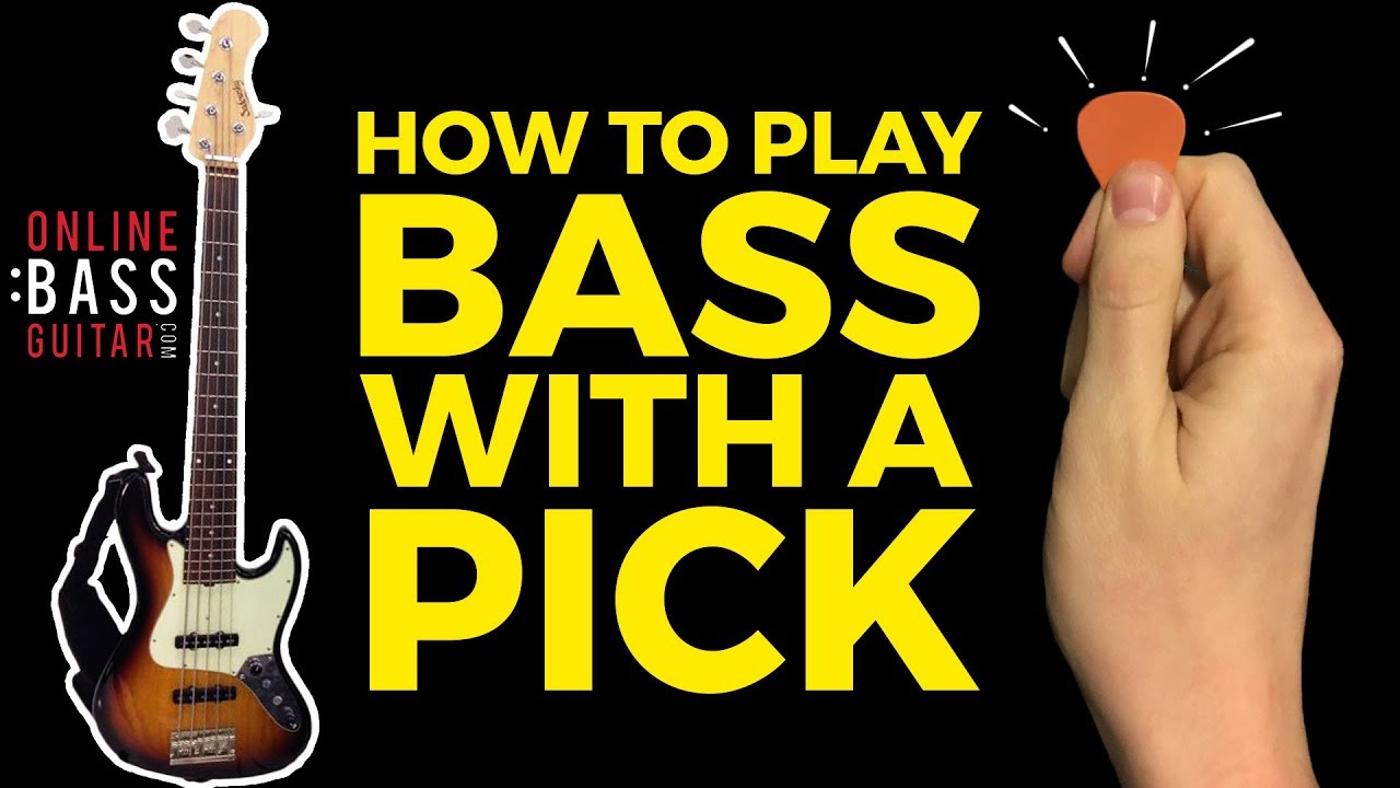 how to hold bass pick