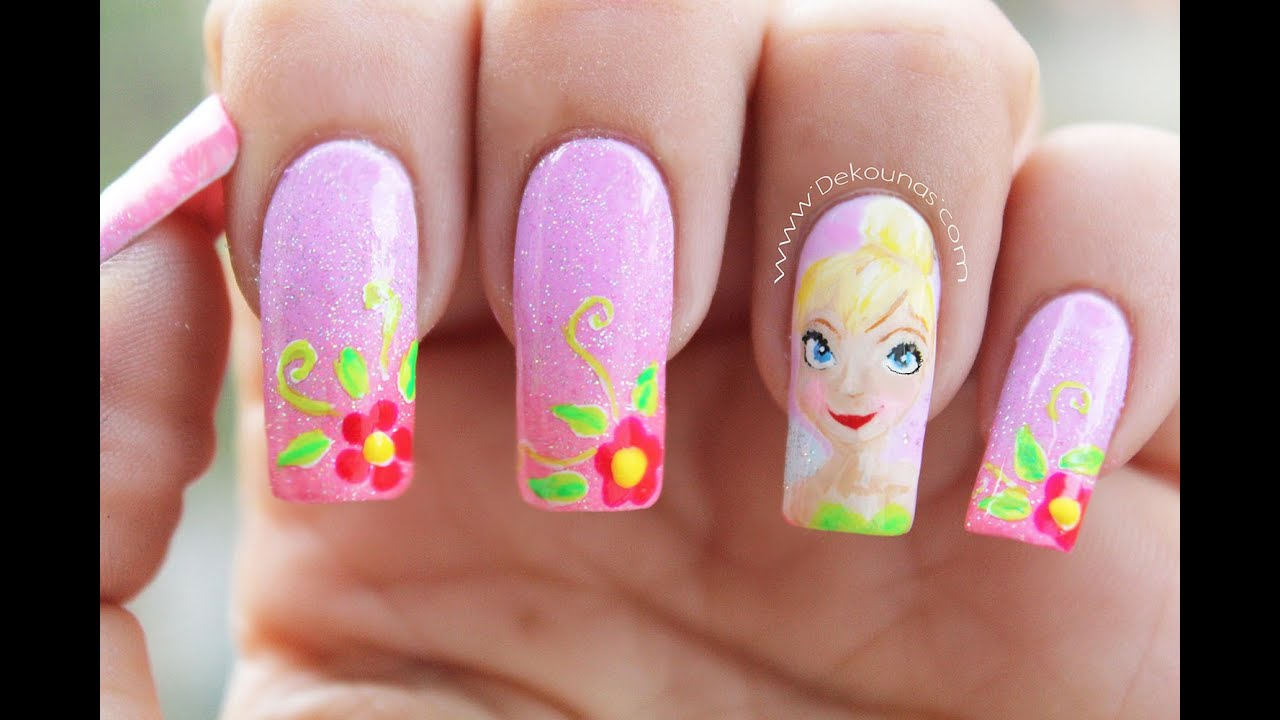 Decoraci n de u as campanita tinkerbell nail art youtube - Decoracion de unas ...