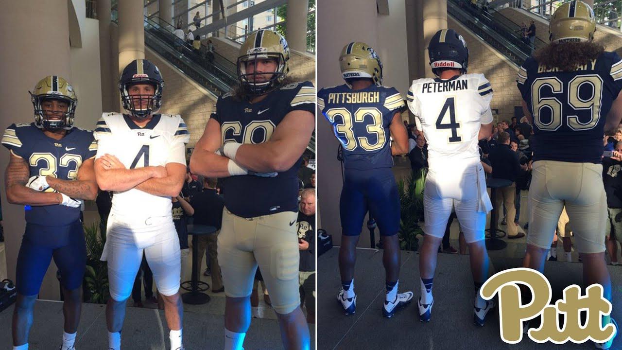 e1413f5c3 Pitt Unveils New Uniforms Featuring  PittScript Logo - YouTube