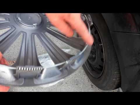 Как крепить колпаки на колеса