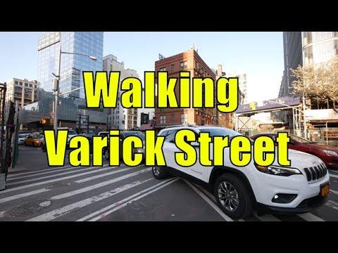 ⁴ᴷ Walking Tour of Hudson Square & TriBeCa, Manhattan, NYC - Varick Street