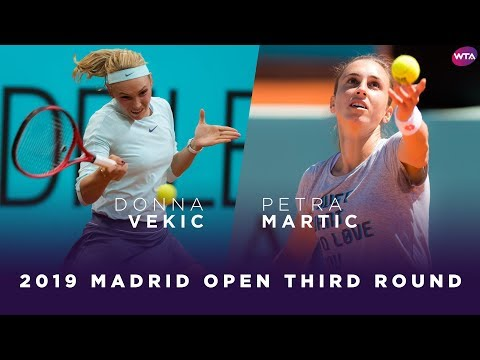Donna Vekic vs. Petra Martic | 2019 Madrid Open Third Round | WTA Highlights