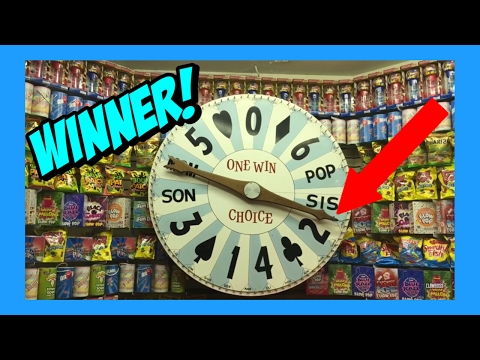 GIANT CANDY WHEEL BOARDWALK LARGE GRAND PRIZE DOUBLE WIN!!!
