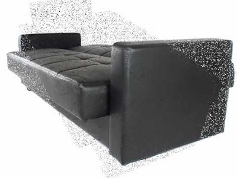Montana Faux Leather Sofa Bed With Storage