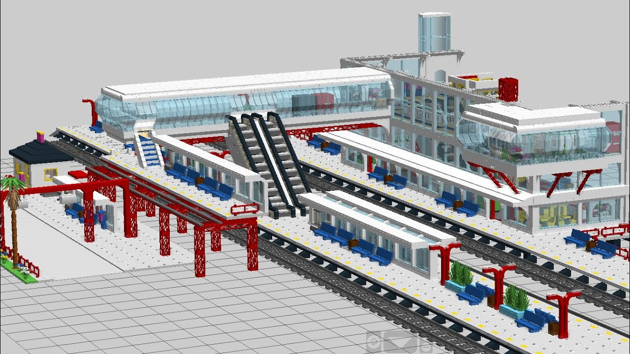 MOC Lego train station WIP E01: the LDD design