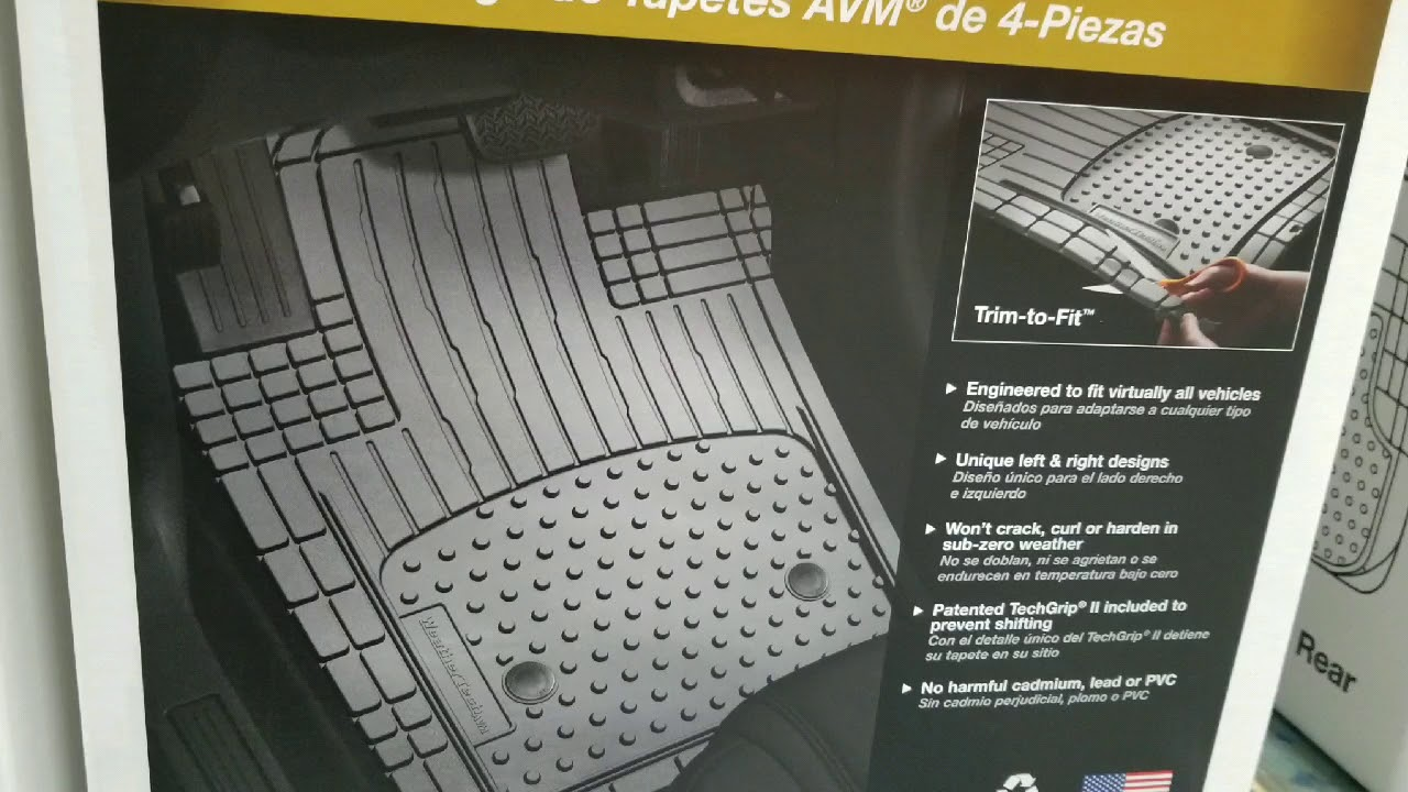 Costco Weather Tech Trim To Fit 4 Piece Car Mats 29 Youtube
