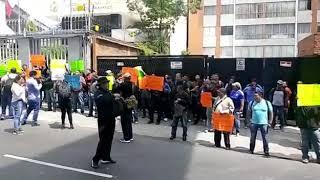 Manifestación por policías federales en la comisión nacional de los derechos humanos 2 parte