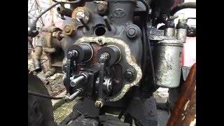 sf 244 mini traktor motor uzuk o'rniga disassembling