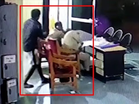 On cam: Prisoner attacks cops with pickaxe inside police station in MP's Bhind