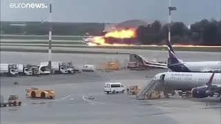 Смотреть видео Айрапорт#шереметова#sheremtev#москва#авария#2019#Рассия# онлайн