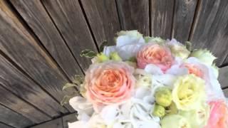 Свадебный букет из пионовидных роз Минск