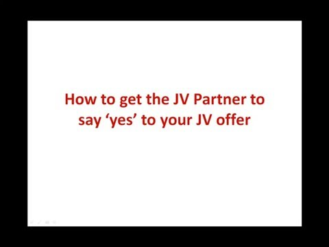 Module 11 - Reaching More Buyers with JOINT VENTURE DEALS