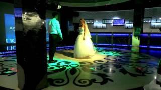 Первый танец молодых в Новосибирске. Музыка из м/ф Анастасия Красивый Вальс Свадебный вальс
