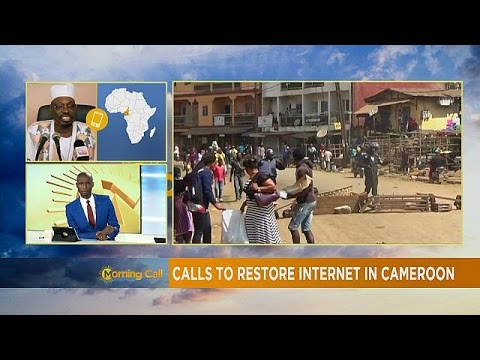 Calls for internet restoration in Cameroon [The Morning Call]