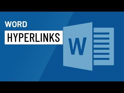 Word 2016: Hyperlinks
