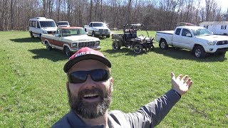 HOME MANY TRUCKS DO YA NEED ON A FARM? DRIVEWAY CONSTRUCTION...HONEYBEES AND MORE!!