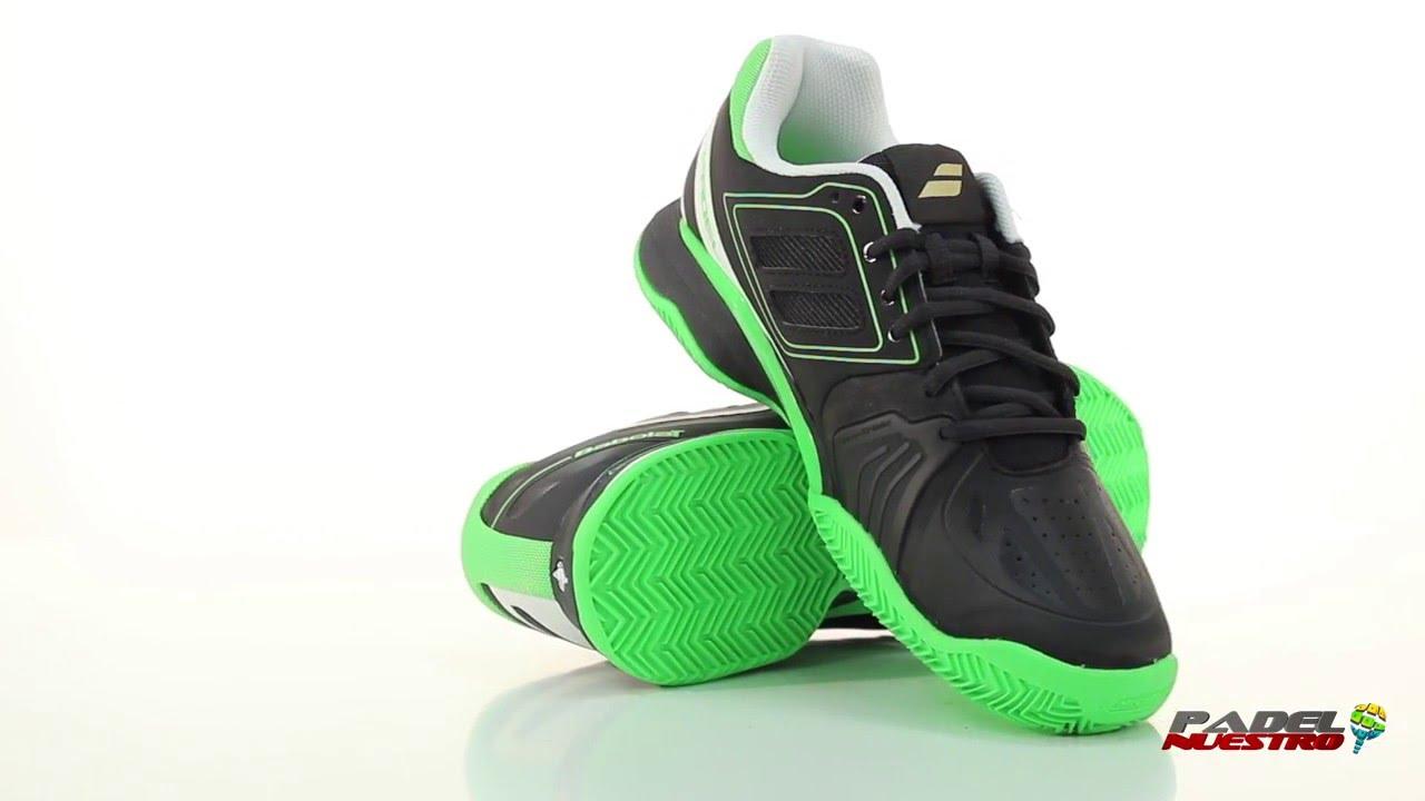super popular 5fad9 78f4e Zapatillas Babolat PTEAM Clay Padel Negro Verde