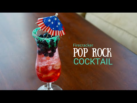 Red White and Blue Pop Rock Cocktail