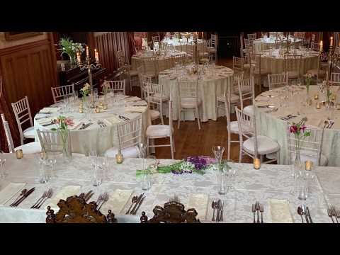 Lunga House Ballroom set up for 60-80 Guests