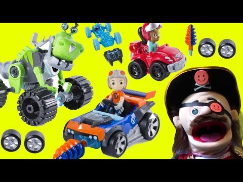 RUSTY RIVETS TOYS AWESOME PREVIEW Playing and Learning With Captain Vernon