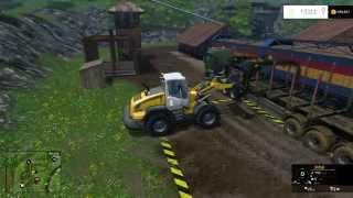 farming simulator 2015 the easy way of unloading a trailer