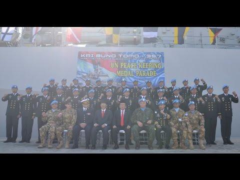 KBRI BEIRUT - MEDAL PARADE KRI BUNG TOMO-357 SATGAS MTF KONGA XXVIII-I/UNIFIL